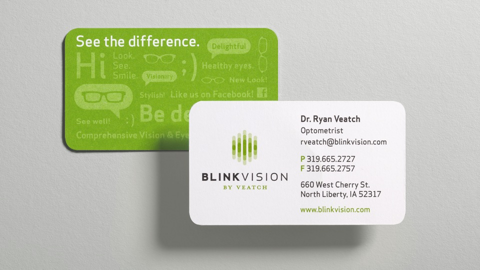 Blink Vision Business Cards