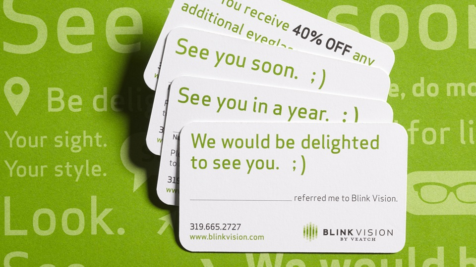 Blink Vision Reminder Cards