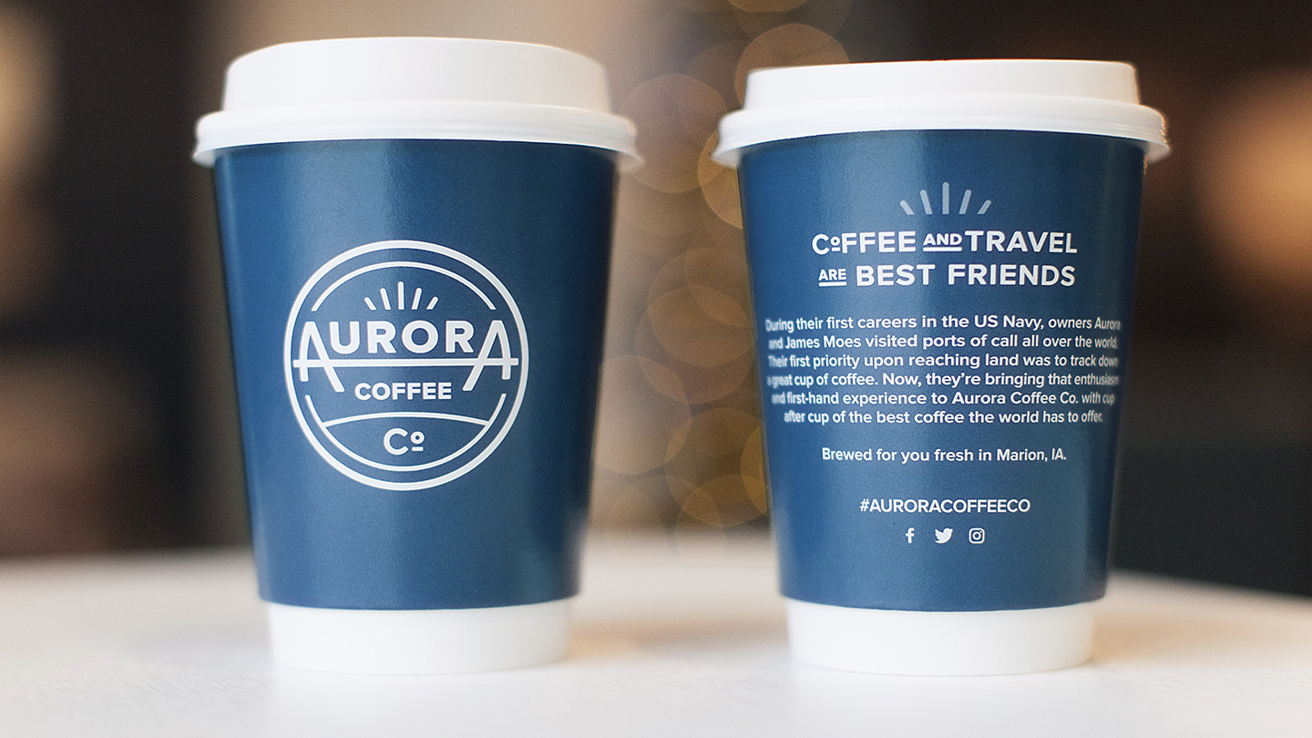 Aurora Coffee cups to go
