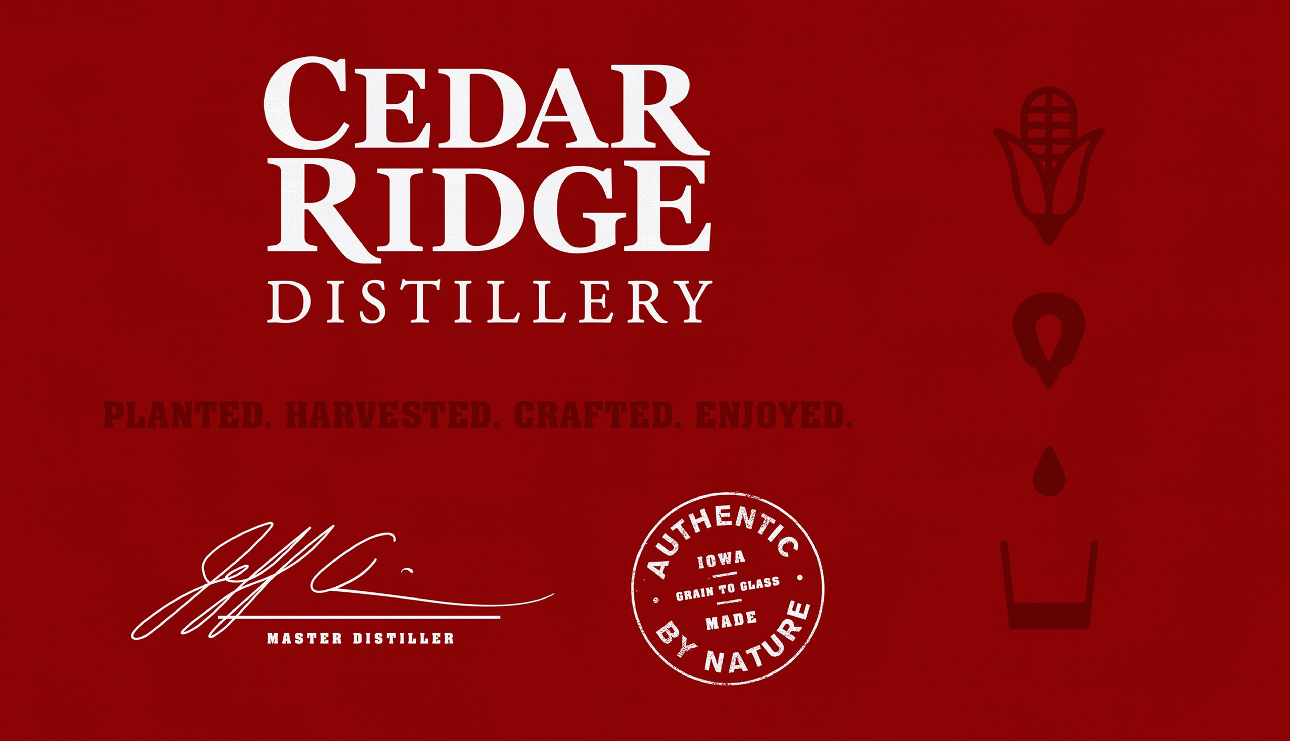 Cedar Ridge Distillery brand elements