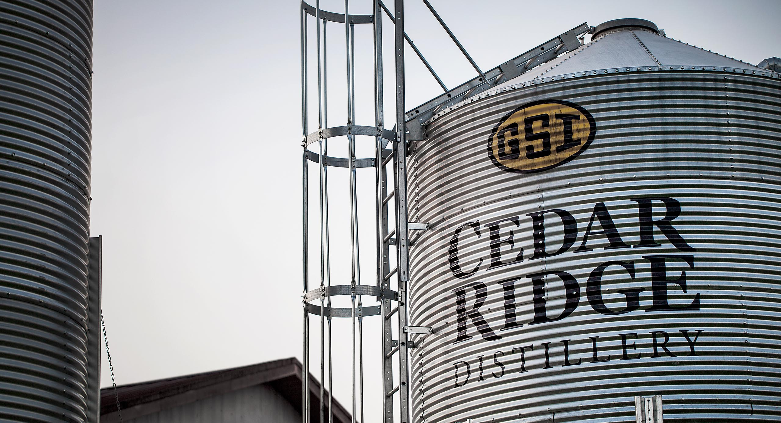 Cedar Ridge Distillery grain bins