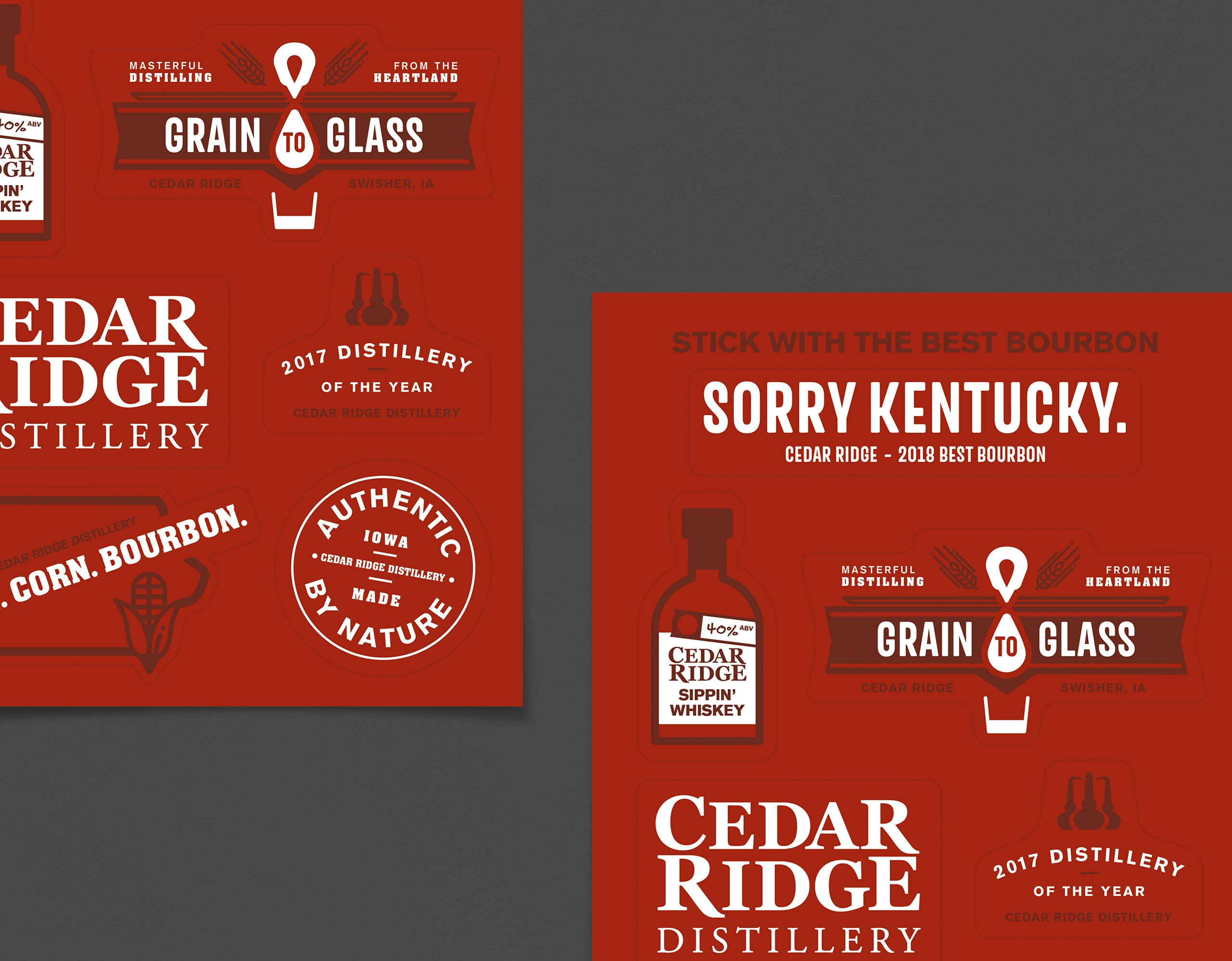 Cedar Ridge Sorry Kentucky stickers