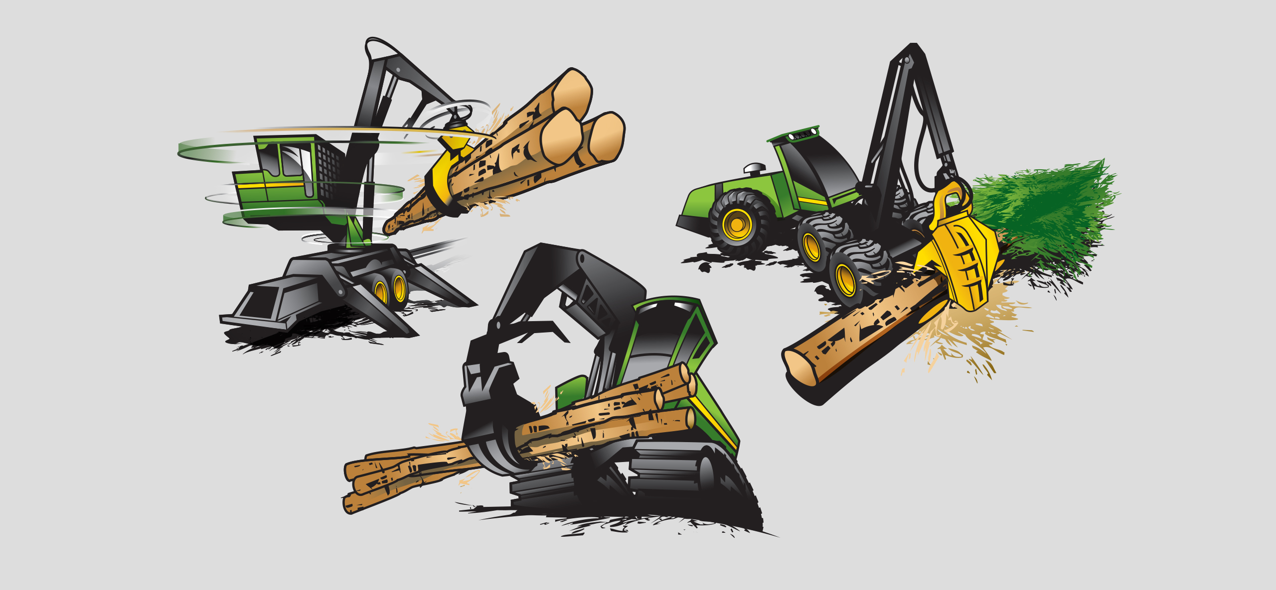 John Deere Construction and Forestry illustration
