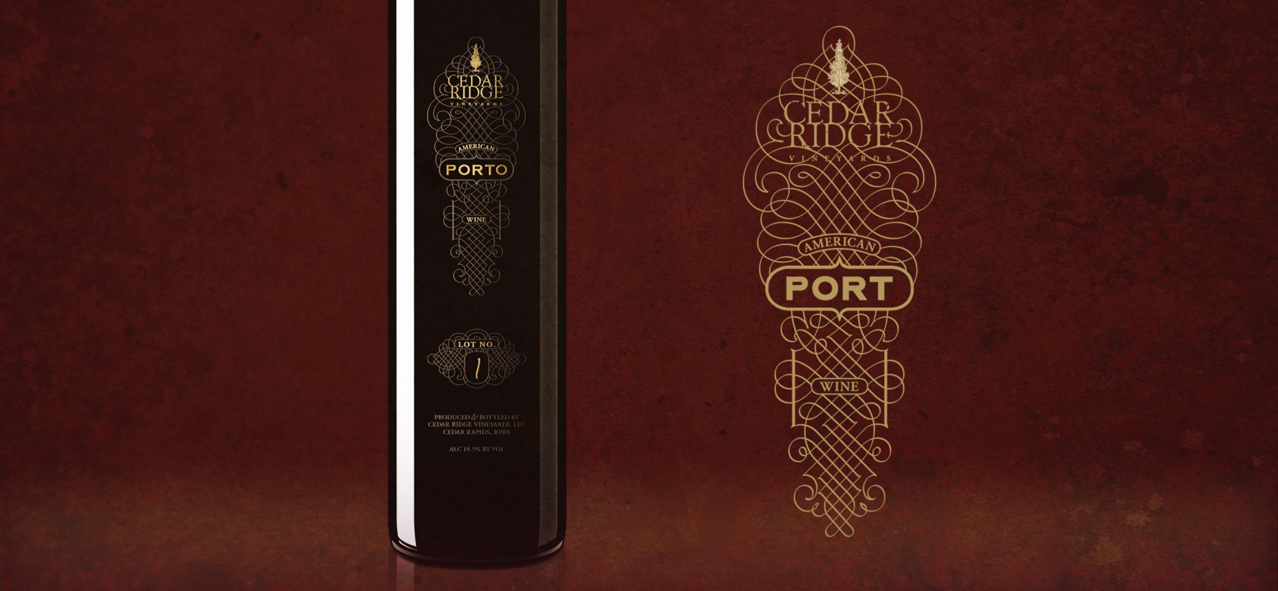 Cedar Ridge Port Label